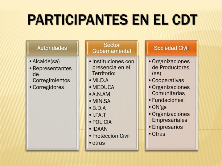 Participantes en el