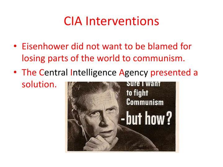 CIA Interventions