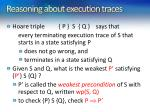 reasoning about execution traces1