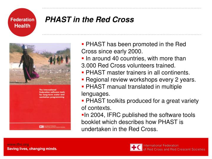 PHAST in the Red Cross