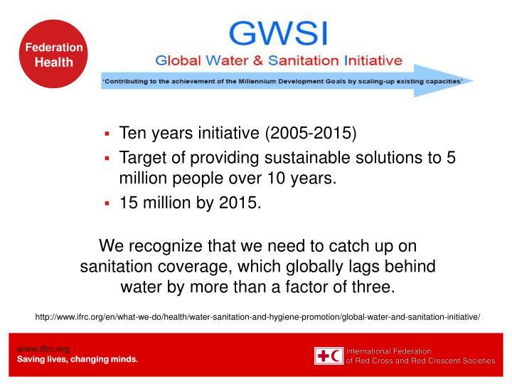 Ten years initiative (2005-2015)