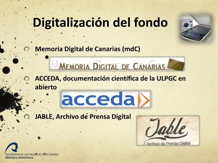 Digitalización del fondo