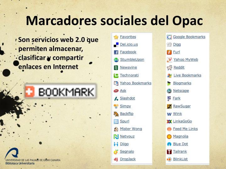 Marcadores sociales del Opac
