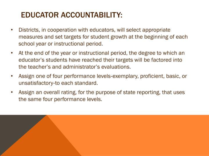 Educator Accountability: