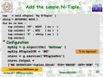 add the simple n tuple