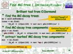 find mc tree imcdecayfinder