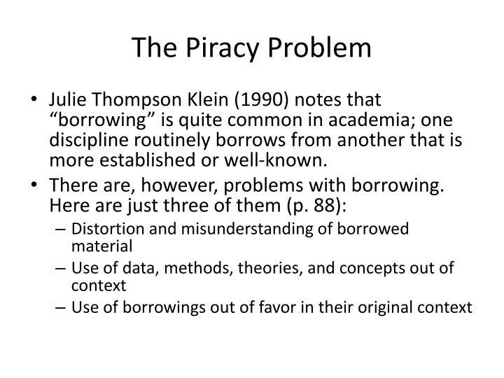 The Piracy Problem