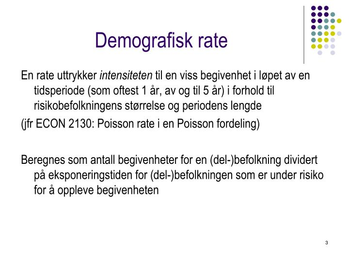 Demografisk rate