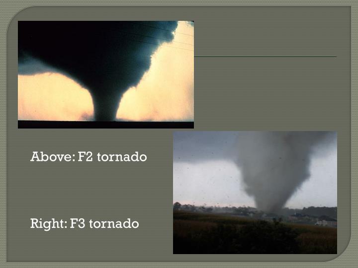 Above: F2 tornado