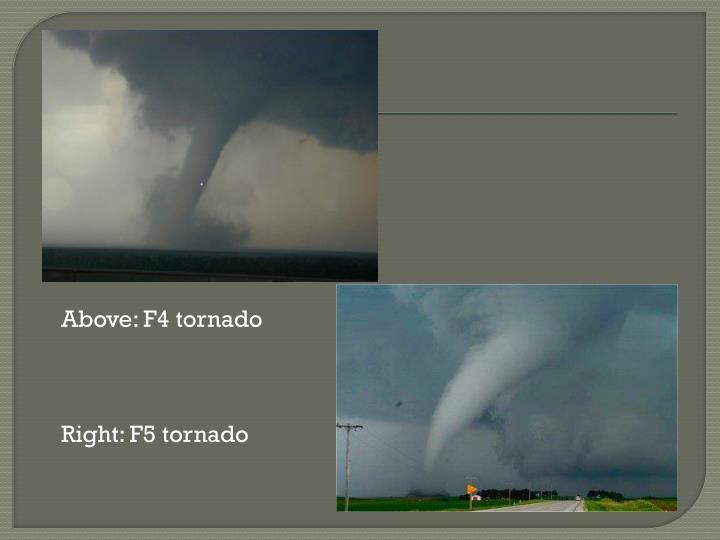 Above: F4 tornado