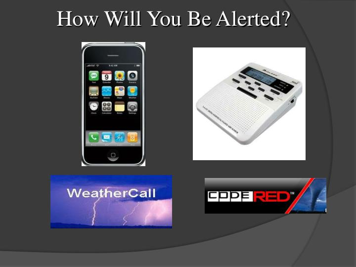 How Will You Be Alerted?