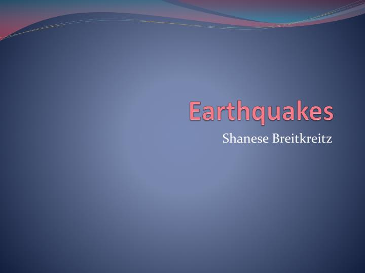 earthquakes n.