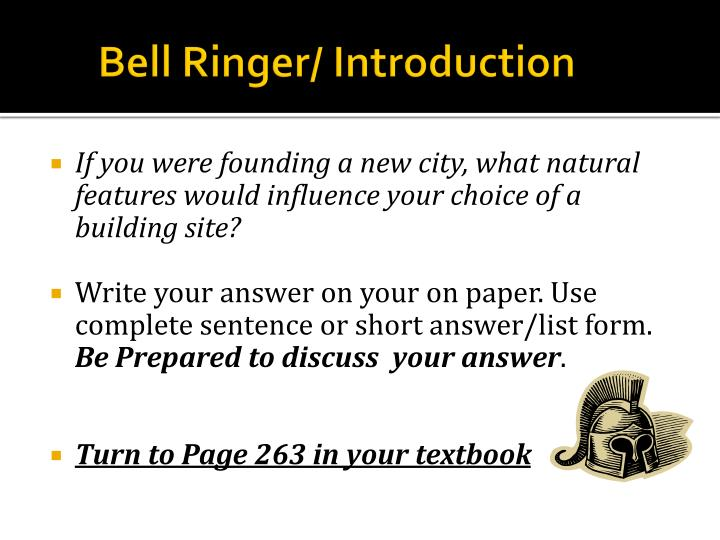 Bell ringer introduction