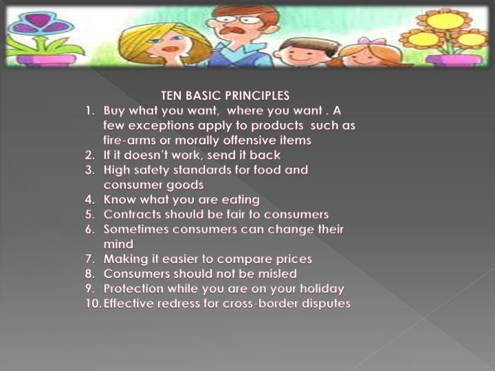 TEN BASIC PRINCIPLES