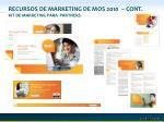 recursos de marketing de mos 2010 cont kit de marketing para partners
