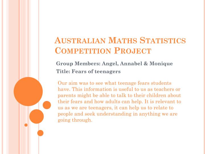 australian maths statistics competition project n.
