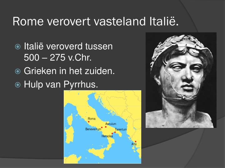 Rome verovert vasteland itali