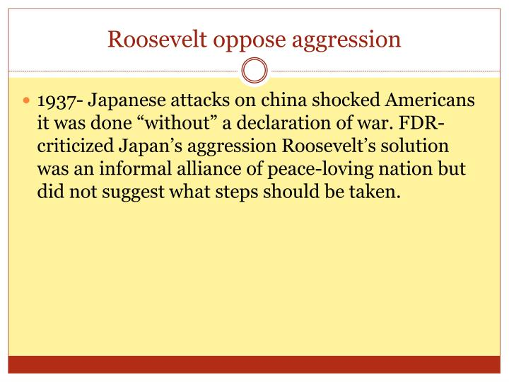 Roosevelt oppose aggression