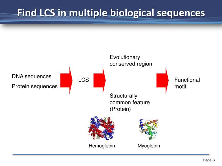 Find LCS in multiple biological sequences