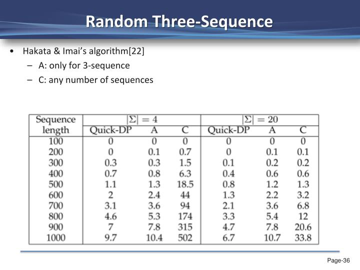 Random Three-Sequence