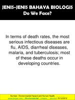jenis jenis bahaya biologis do we face