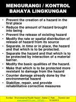 mengurangi kontrol bahaya lingkungan