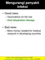 mengurangi penyakit infeksi