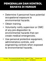 pengenalan dan kontrol bahaya di hunian