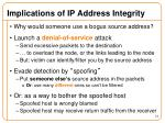 implications of ip address integrity
