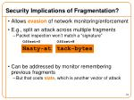 security implications of fragmentation