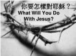 what will you do with jesus