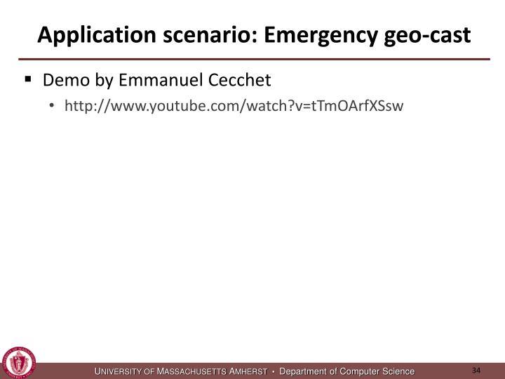 Application scenario: