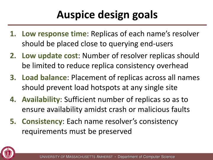 Auspice design