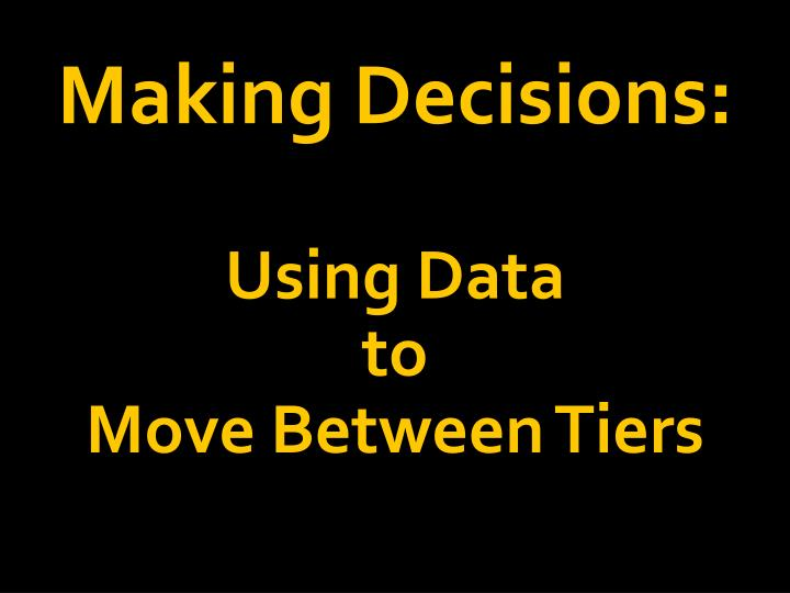 Making Decisions: