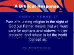 a biblical response