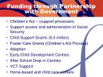 funding through partnership with government