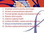 millennium development goals mdg s