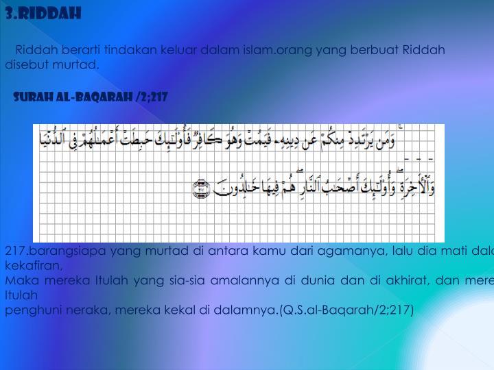 3.Riddah