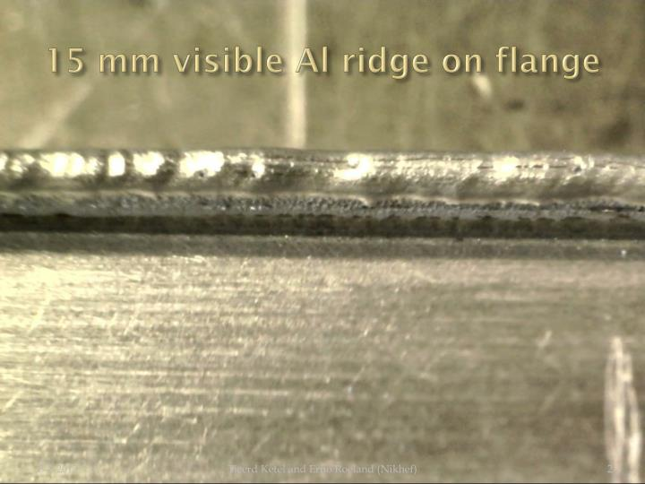 15 mm visible al ridge on flange
