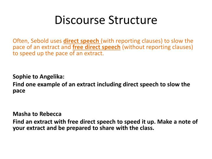 Discourse Structure