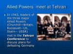 allied powers meet at tehran