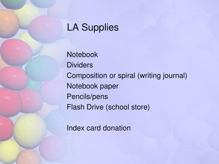 LA Supplies
