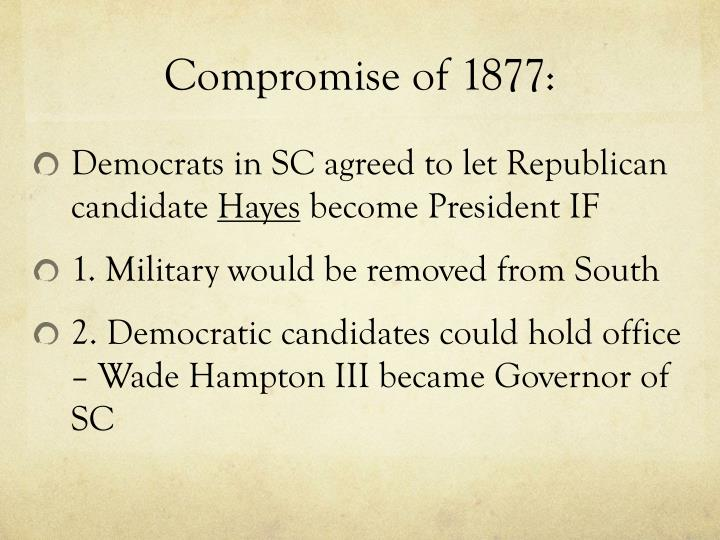 Compromise of 1877: