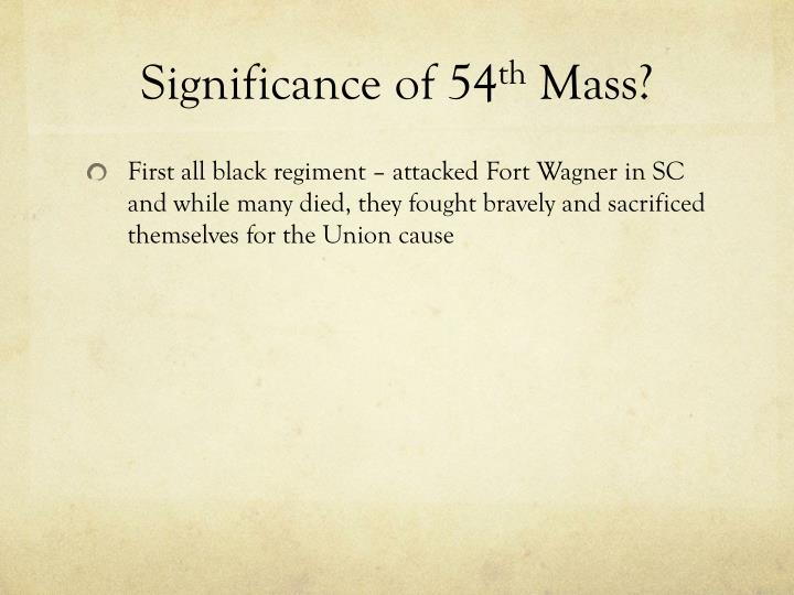 Significance of 54