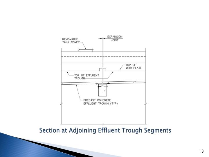Section at Adjoining Effluent Trough Segments