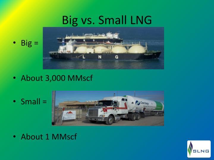 Big vs small lng