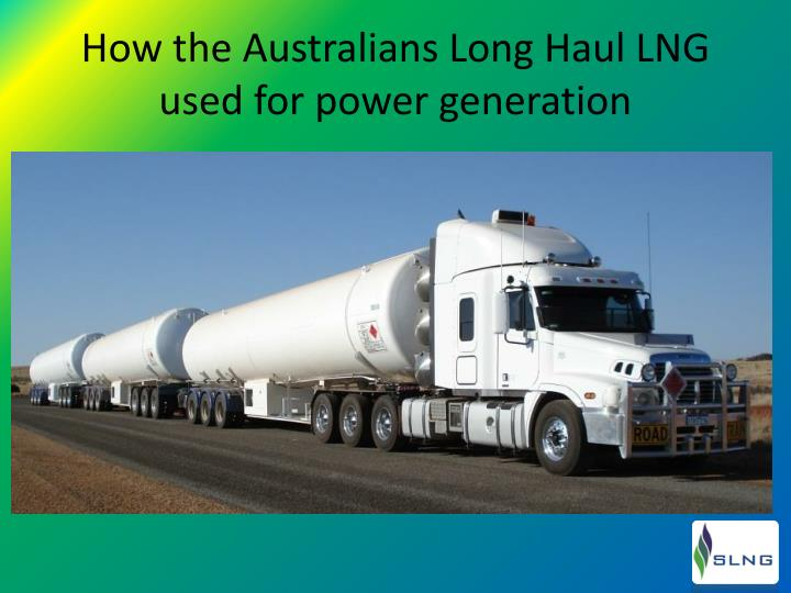 How the Australians Long Haul LNG used for power generation