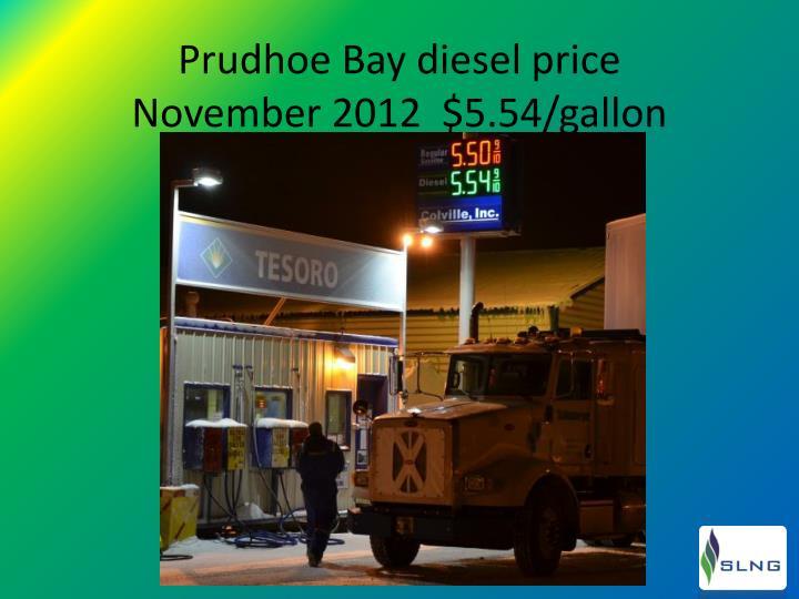 Prudhoe Bay diesel price