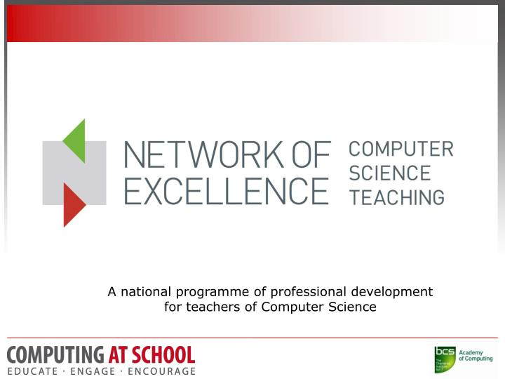 A national programme of professional development