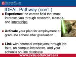 ideal pathway con t